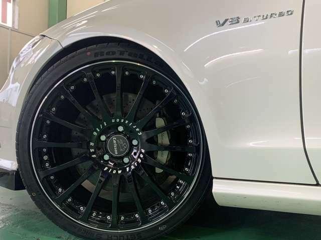 カールソン新品20インチアルミ 新品タイヤ V8ビターボエンブレム