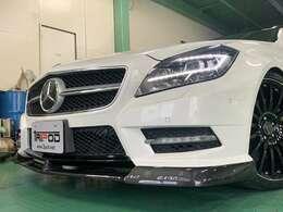 新品フロントカーボンスポイラー AMGエアロブラックペイント