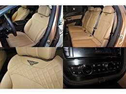 シートには、「Magnolia」を選択し、フロントシートコンフォートスペックがインストールされております。ステッチには、「Beliga」を選択。Fシートにシートヒーター/エアコンが装備されております。