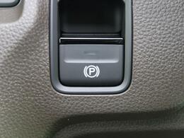 【電動パーキングブレーキ】見た目も使い勝手もいい電子式のパーキングブレーキです。