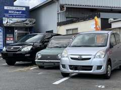 軽自動車・コンパクトカーを中心に展示しております。