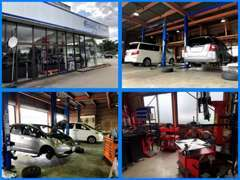 中古車販売やタイヤ交換、組み換え・パーツなど取付等お気軽にご相談ください。