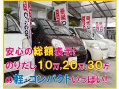 お手頃で格安な軽自動車、コンパクトを販売しております(*^^)v 街乗り、ちょい乗り、お買い物にピッタリなお車いっぱいです♪