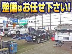整備工場には作業リフトが5基、車検レーンも完備していますので、様々な整備作業を行うことが可能です。