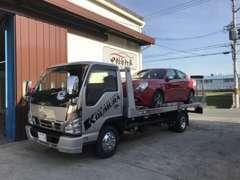 当社、積載車も完備しておりますので、もしものトラブルにも対応させて頂きます。