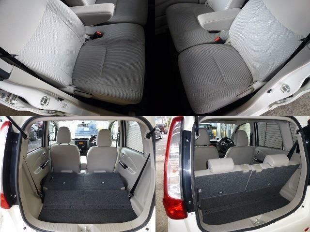 使用頻度の多いフロントシート左右も御覧のようにキレイです・広々ラゲッジ!