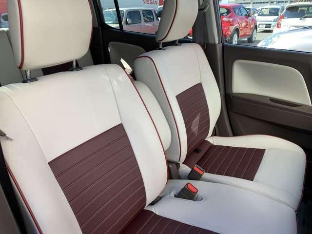 【運転席&助手席】皮シートですが硬くなく柔らかい仕様で座っていても心地良い座り心地です☆
