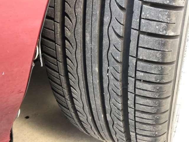 タイヤの溝はばっちり。