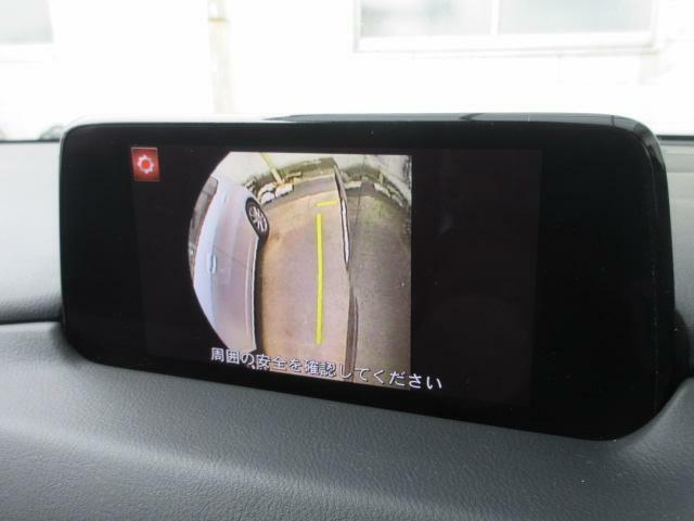 左ドアミラーにはサイドカメラを標準装備しています。運転席からでは確認が難しい左フロントタイヤ近辺をモニターへと映し出します。