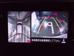 『アラウンドビューモニター』は、空から見下ろすような視点で、スムースな駐車と安全確認をサポートします。