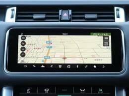 【Touch Pro Duo】10インチ高精細デュアルタッチスクリーンを備えております。上の画面でナビやオーディオを操作して、下の画面でキャビンやシートの温度調整をすることも可能です。