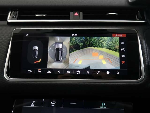 360°カメラ『車載のカメラを駆使し、車を真上から見下ろしている映像に変換、センターディスプレイに表示させ、安全な駐車をサポート。縦列駐車や狭い場所への駐車に大きく役立ちます。』