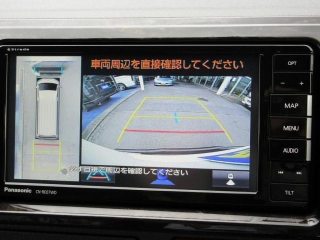 現行型よりオプション設定のパノラミックビューモニターも搭載済みですよっ♪駐車も楽チンです!!!