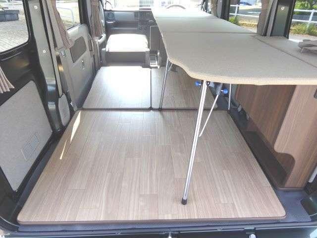 軽キャンピングカーComfy-I*オプションで両側ベッドキットの取付可能です!4人移動で4人就寝OKです!