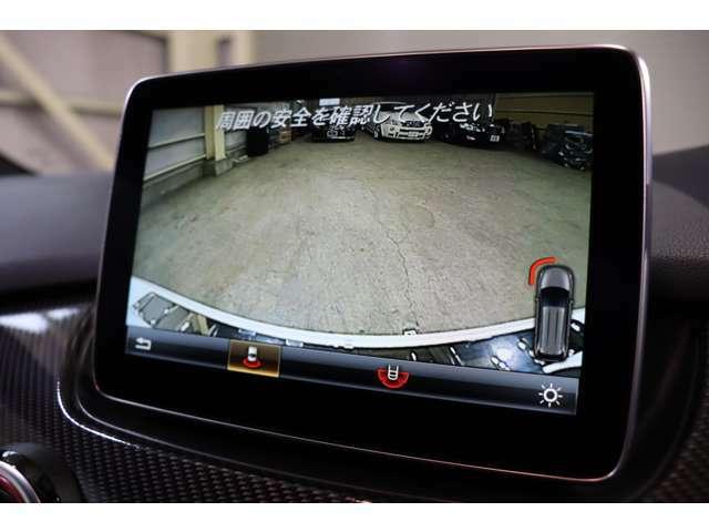 後方の死角もナビモニターより視認可能なバックカメラを搭載!ステアリングの舵角により進入角度を予測致しますので、安全な駐車をサポート致します♪