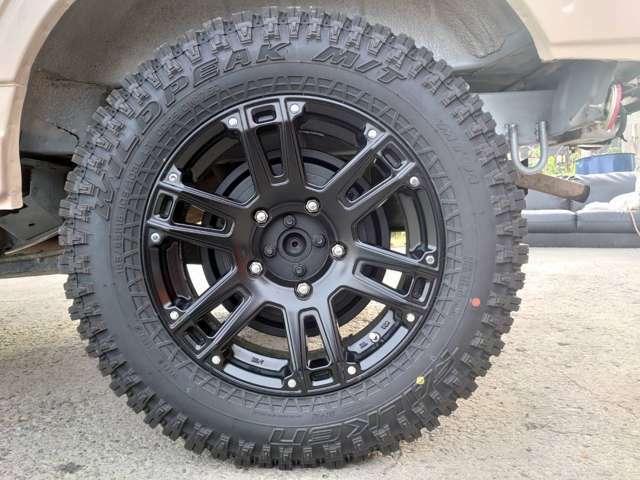 こちらが新品マッドタイヤとアルミホイルです♪仕上がってます!by担当