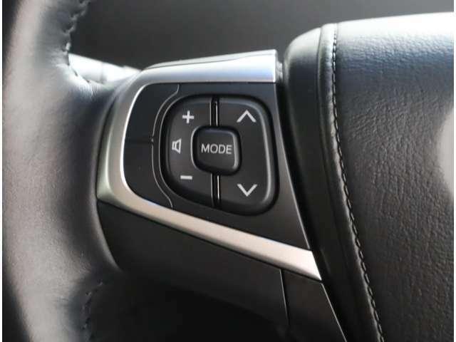 ハンドルのスイッチでオーディオの操作ができます。