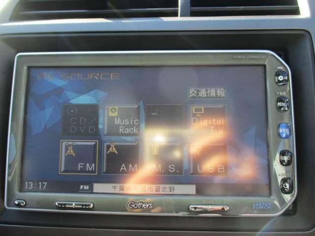 純正HDDナビ(VXH-088CV)です。DVD/CD再生のほかにもワンセグTV、ミュージックサーバーも装備されとっても便利です!