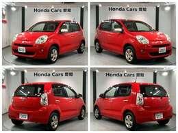 純正HDDナビ キーレスキー ベンチシート装備のトヨタの赤色のパッソ プラスハナ入庫しました。