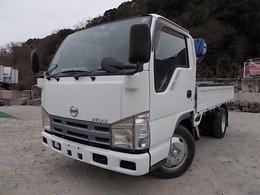 日産 アトラス 3t積・タダノ3段クレーン・平ボディ AT・全低床