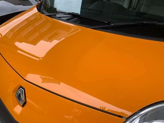 鮮やかなオレンジがとても綺麗な状態に保たれております。