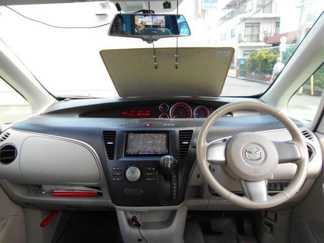 革巻きステアに横滑り防止装置にアイドルストップにオートエアコンにインテリキー付きです!
