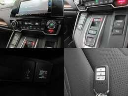 ■スマートキー■キーを取り出さずに鍵の開閉からエンジンの始動、停止までが可能です。カバンやポケットに入れっぱなしで大丈夫なのでとても快適ですよ!