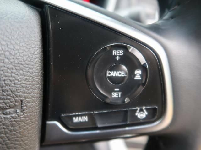 【インテリジェントクルーズコントロール】高速道路での長距離走行が楽に!自動で速度を保つクルーズコントロールが、衝突軽減システムと連携し、前方の車両を感知して車間を保つように速度調節してくれます!!