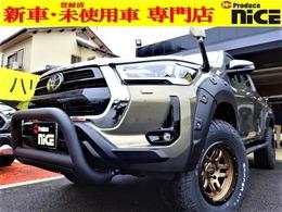 トヨタ ハイラックス 2.4 Z ディーゼルターボ 4WD 登録済未使用車17AW リフトアップ プルバ-