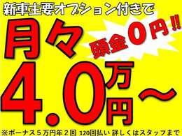 ハイラックスカスタムが月々4万円からお乗り頂けます!詳しくはスタッフまでお問い合わせください!