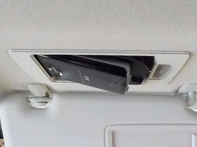 ETCは運転席上のサンバイザーへ隠れています