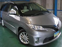 トヨタ エスティマハイブリッド 2.4 G 4WD プリクラLKAレダクル革パノラビュCソナDCM