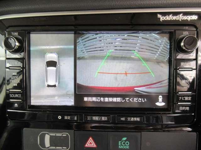 バックカメラのみならず!マルチカメラで駐車も楽です