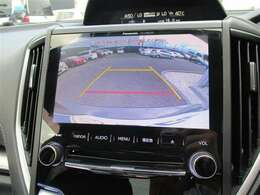 バックカメラも装備!ショッピングセンターなどの狭い駐車場も安心です。