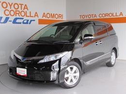 トヨタ エスティマハイブリッド 2.4 G 4WD フルセグHDDナビ バックモニター付き