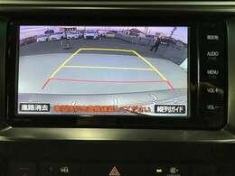 バックカメラ装備しております☆ハンドルの動きに合わせて、ガイド線が動きます☆駐車が苦手だなぁという方もバックカメラがあると安心ですよ☆