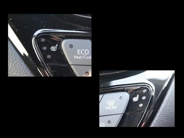 シートヒーター操作部分は、エアコンパネルの両サイドについてます!冬場の暖房の補助につかって燃費向上!