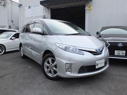 トヨタ エスティマハイブリッド 2.4 X 4WD HDDフルセグ&リアモニター/両側電動ドア