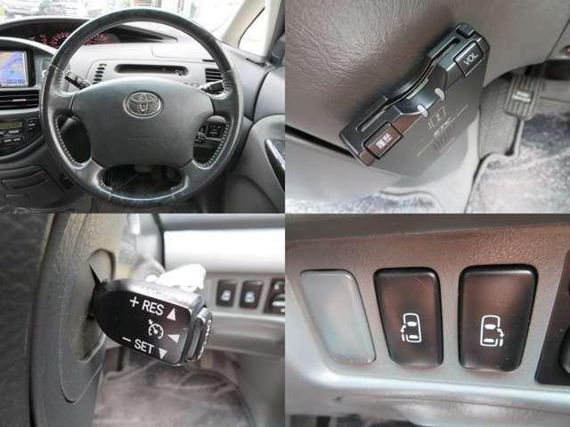 Bプラン画像:ステアリングにはクルーズコントロールスイッチも装備♪ETCももちろん付いています♪車内には電動スライドドアスイッチがあります♪