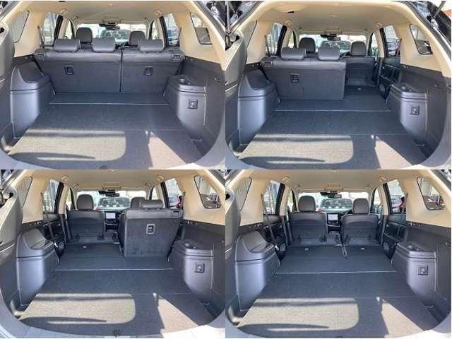 6:4分割のリヤシートは簡単に折りたためるので荷物に合わせて多彩なシートアレンジが可能です。また、後席乗車で9インチのゴルフバッグを4個積むことができます。