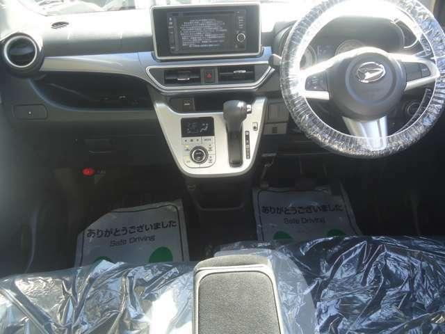 安全装備のエアバッグ付です。シートベルト装着もお願いしますね。