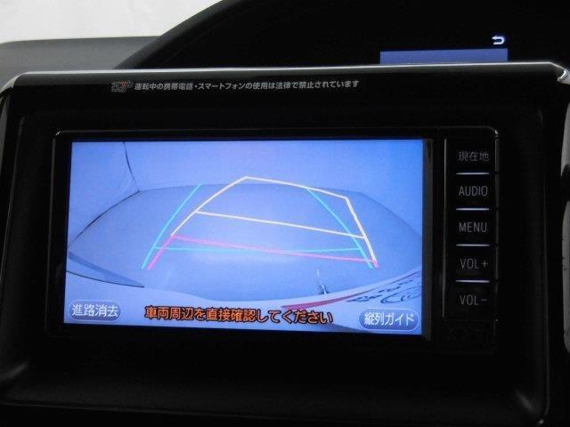 バックモニターも装備しております。バックギアに入れるとナビ画面に車の後方が映し出されます。これで後方確認も安心!