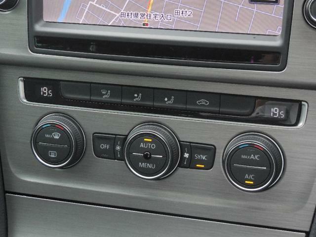 2ゾーンフルオートエアコンディショナー。運転席助手席それぞれ独立して温度風量をコントロール。フレッシュエアフィルターで花粉やダストを除去し快適で安全な室内空間を保ちます。