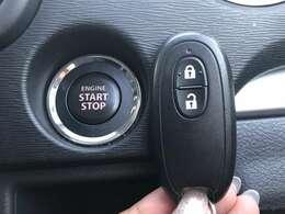 【スマートキー&プッシュスタート】鍵を挿さずにポケットやカバンの中にいれたまま、鍵の開閉、エンジンの始動、停止可能です!!