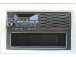 純正ラジオが付いています。