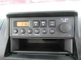純正AM/FMラジオチューナーついてます!