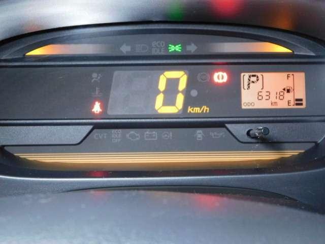 シンプルで見やすいメーター周り。スピードメーターはデジタル表示です。走行距離も少なめです♪