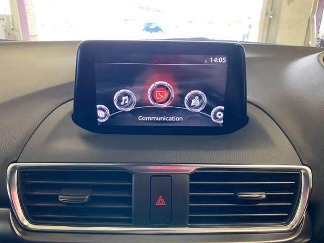 7インチWVGAセンターディスプレイにTVなどのエンターテイメント機能が充実したマツダコネクタ☆コマンダーコントロールや音声認識機能で安全に操作できます♪純正メモリーナビ&TV&バックカメラ装備★