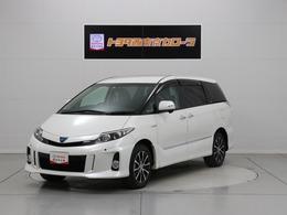 トヨタ エスティマハイブリッド 2.4 X 4WD SDナビ バックモニター ETC