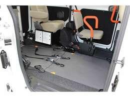 車いすの固定装置2台分です。